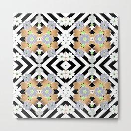 Floral geometric pattern 2 Metal Print