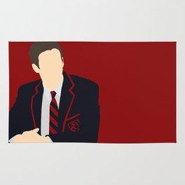 Sebastian Smythe - Grant Gustin - Glee - Minimalist design Rug