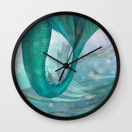 Mermaids Fantasy Pastel Sea Ocean Wall Clock