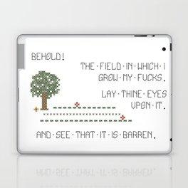 Behold! My Field of Fucks! (Mature) Laptop & iPad Skin
