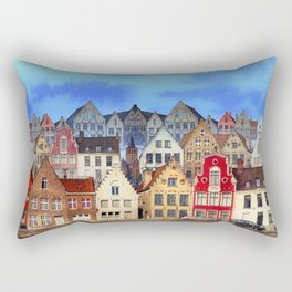 House, Bruges, Belgium Rectangular Pillow
