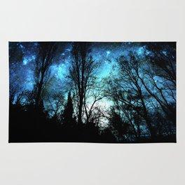 Black Trees Deep Teal SPACE Rug
