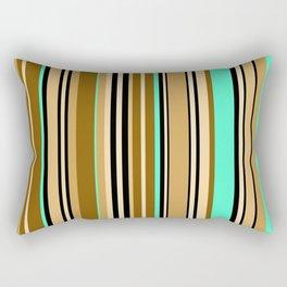 Mint brown stripe Rectangular Pillow