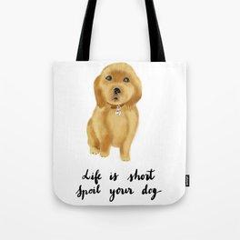 Golden retriever puppy Tote Bag