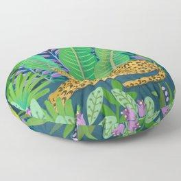 Jungle Leopard in the Evening Floor Pillow