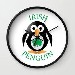 Irish penguin Wall Clock