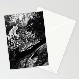 Flowering - Untitled Face III Stationery Cards