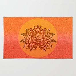 Lotus Flower of Life Meditation  Art Rug