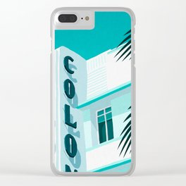 Colony Hotel Miami Beach Clear iPhone Case