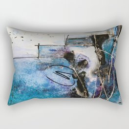 Midnight Sky, Acrylic artwork Rectangular Pillow