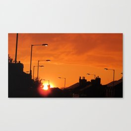 highlighter orange sky Canvas Print