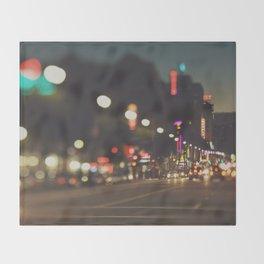 Hollywood Boulevard. Los Angeles Throw Blanket