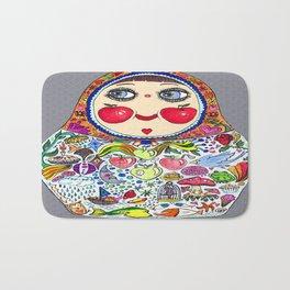 'Cheeks like apples' Matryoshka doll Bath Mat