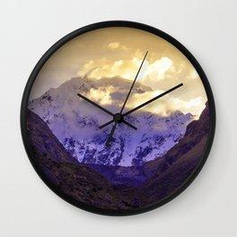 SUNRISE AT APU SALKANTAY Wall Clock