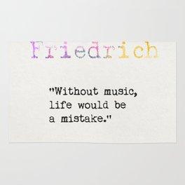 Friedrich Nietzsche quote 2 Rug