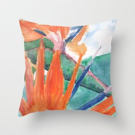 Strelitzia Throw Pillow