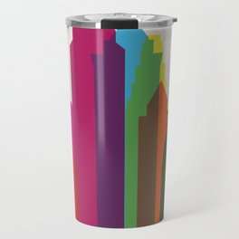 Shapes of Philadelphia accurate to scale Travel Mug