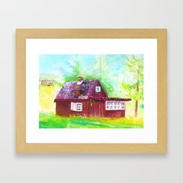 Vacation Home in Summer Framed Art Print