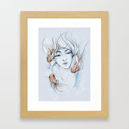 goldfish pond Framed Art Print