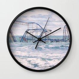 Jet Coaster Full Closeup Wall Clock