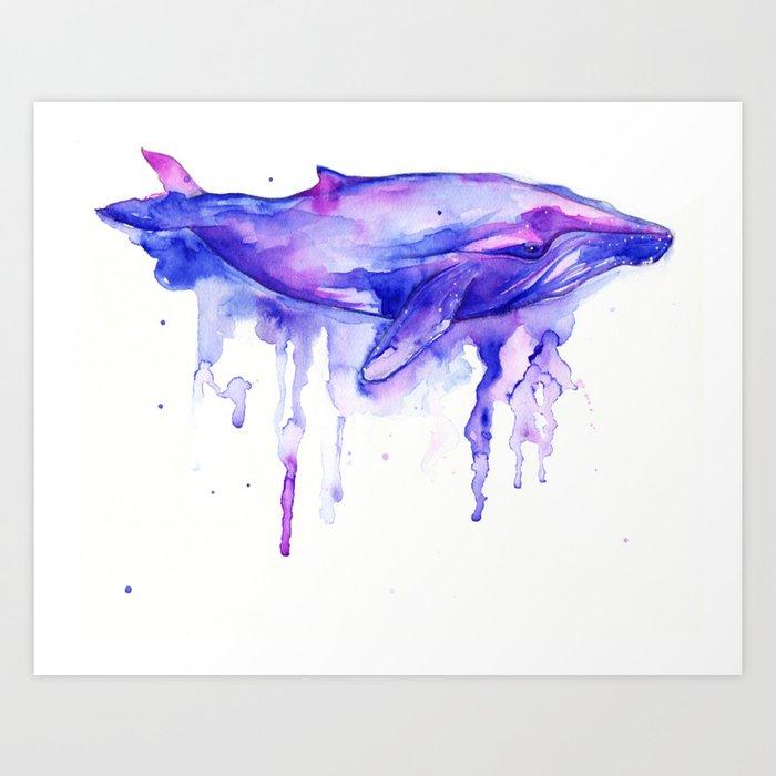 dreamy whale Art Print