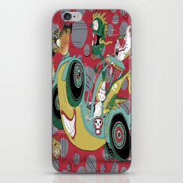 get in the car, we're goin' for a ride! iPhone Skin