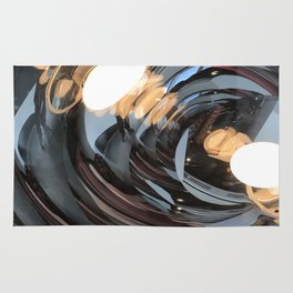 lighting reflects a circle, abstract smooth Rug
