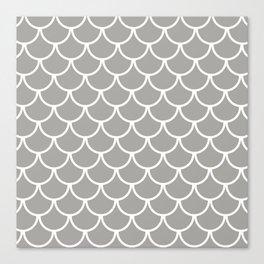 Grey Fish Scales Pattern Canvas Print