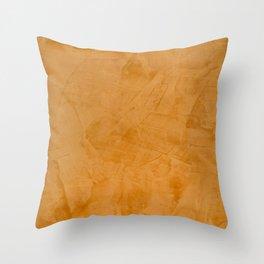 Tuscan Orange Stucco Throw Pillow