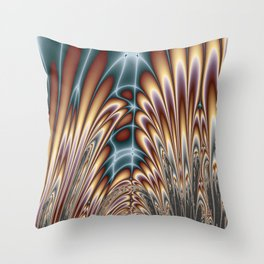 Fractal Cathedral Throw Pillow