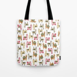 Llama love / Alpaca adventure wanderlust travel / animal baby nursery gift for her shower decor Tote Bag