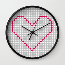 Digital Heart Wall Clock