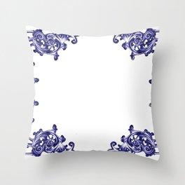 damask patern Throw Pillow