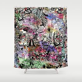 ironic chaos Shower Curtain