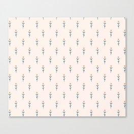 Tiny Flowers Pattern Canvas Print