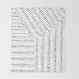 Lines Art Throw Blanket