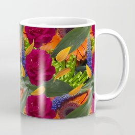 Power Bold Flower Repeat Pattern Coffee Mug