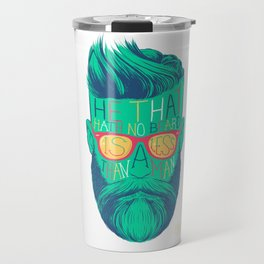 He That Hath No Beard Travel Mug