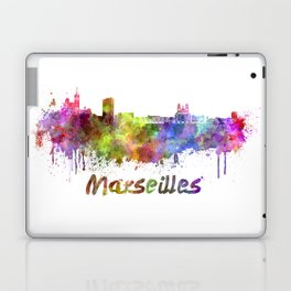 Marseilles skyline in watercolor Laptop & iPad Skin