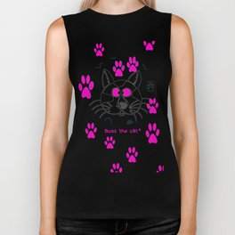 Buzz the cAt © Vincent Brun Hannay Biker Tank