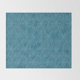 Moroccan Teal Arabesque Throw Blanket