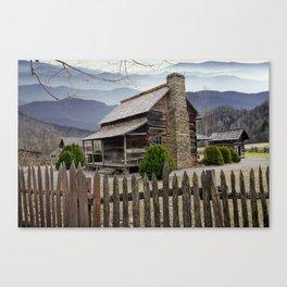 Appalachian Mountain Cabin Canvas Print