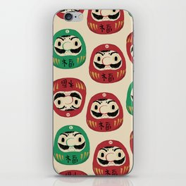 super daruma bros iPhone Skin