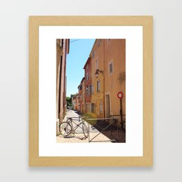 Pretty City Streets Framed Art Print