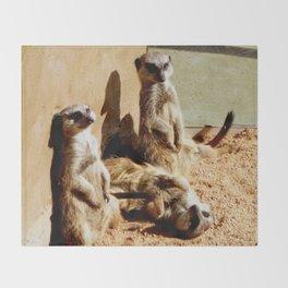 Meerkat Togetherness Throw Blanket