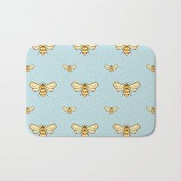 Bumblebee on Mint Bath Mat