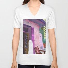 ghost house Unisex V-Neck
