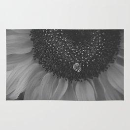 Honey Bee on Sunflower | photography Rug