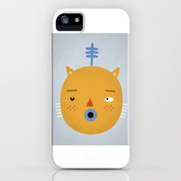 Cat with Fern iPhone Case