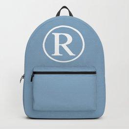 Registered Trademark Sign on placid blue background Backpack